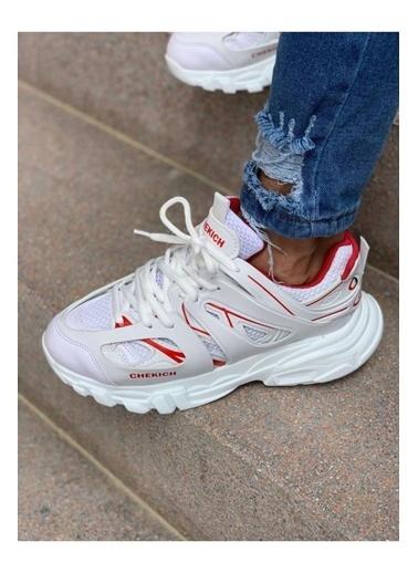 Chekich CH301 BT Erkek Ayakkabı BEYAZ - KIRMIZI Beyaz